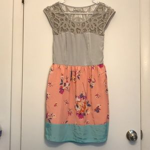 AEO Lace Top Silky Floral Dress
